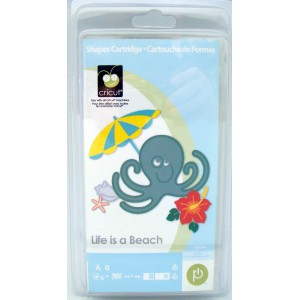Cricut Shape Cartridge Life is a Beach Item 29-0707